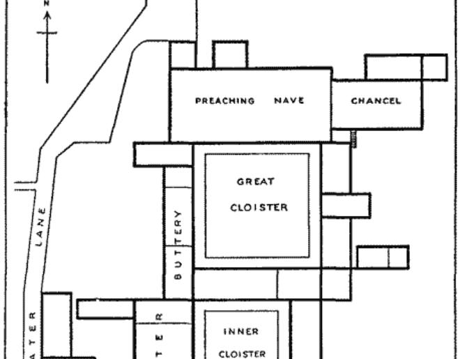 Blackfriars Monastery London ground plan