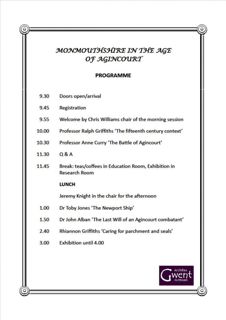 Agincourt Programme